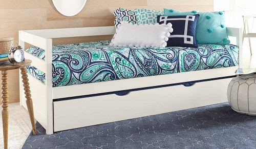 Caspain Daybed With Trundle - White