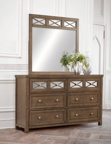 Randall Dresser and Mirror - Amazing Gray