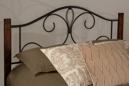 Destin Headboard - Black/Brushed Cherry