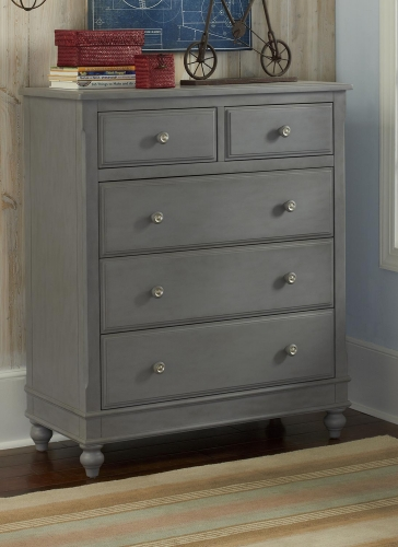 Lake House 5 Drawer Chest - Stone