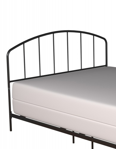 Tolland Metal Headboard with Arched Spindle Design - Black