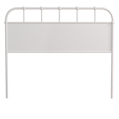 Grayson Metal Headboard - Textured White