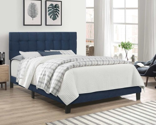 Delaney Full Bed - Blue Velvet