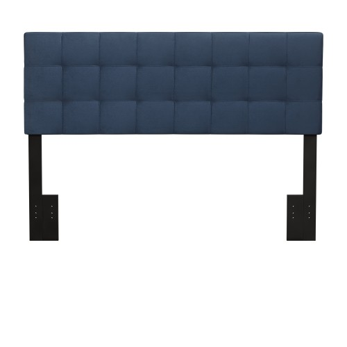 Delaney Upholstered Headboard - Blue Velvet