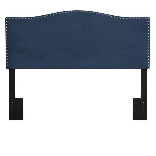 Kiley Upholstered Headboard - Blue Velvet