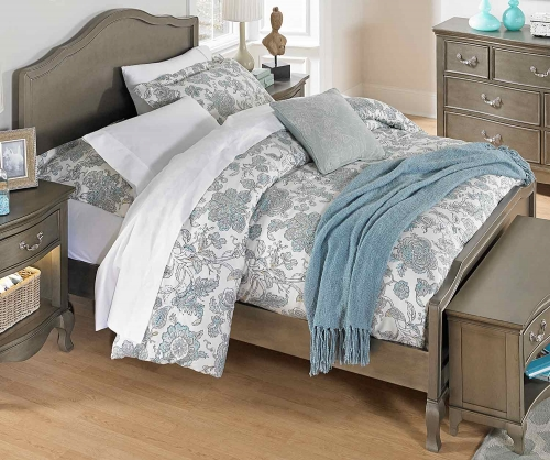 Kensington Charlotte Panel Bed - Antique Silver