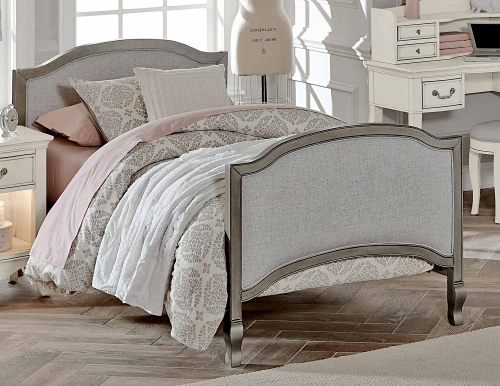 Kensington Victoria Twin Bed - Antique Silver