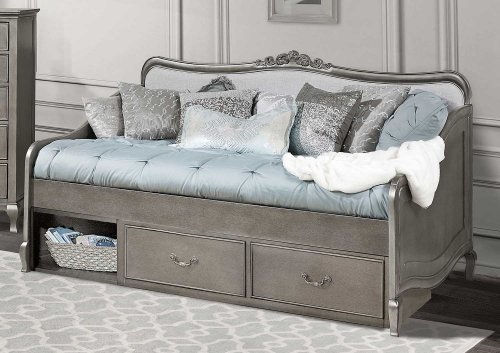 Kensington Elizabeth Daybed With Storage - Antique Silver
