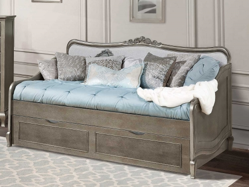 Kensington Elizabeth Daybed With Trundle - Antique Silver