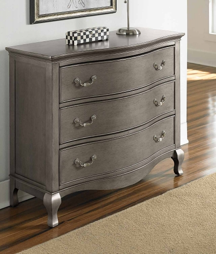 Kensington 3 Drawer Single Dresser - Antique Silver