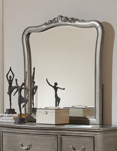 Kensington Mirror - Antique Silver