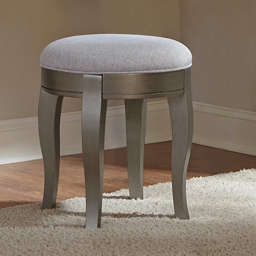 Kensington Stool - Antique Silver