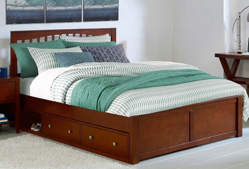 Pulse Mission Bed With Trundle - Cherry
