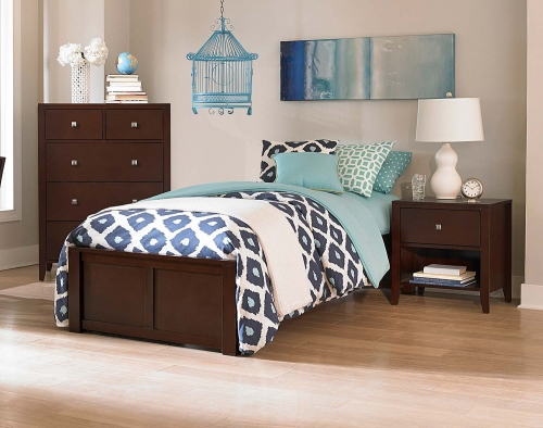Pulse Platform Bedroom Set - Chocolate