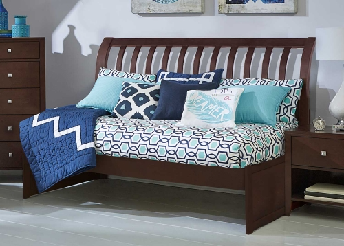 Pulse Rake Sleigh Twin Daybed - Chocolate