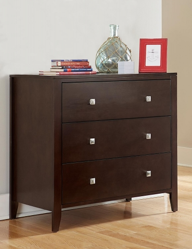 Pulse 3 Drawer Chest - Chocolate