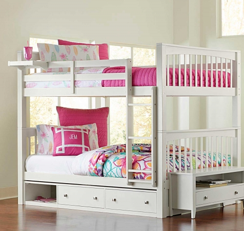 Pulse Full Over Full Bunk With Storage - White
