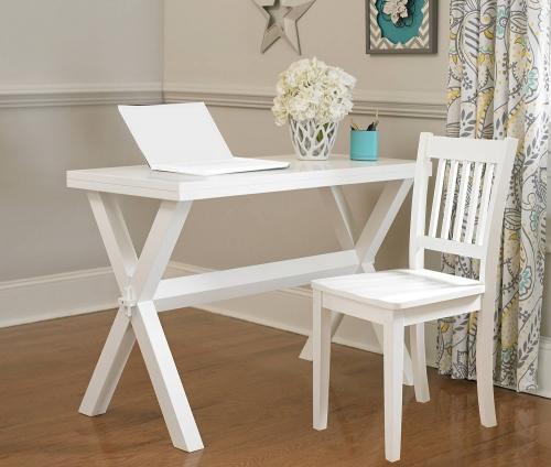 Pulse Desk And Chair - White
