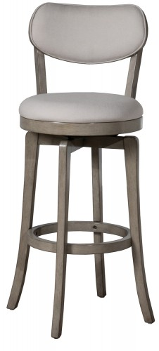 Sloan Swivel Bar Height Stool - Aged Gray