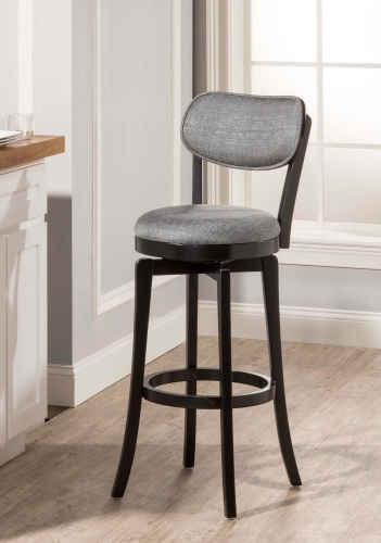 Sloan Swivel Bar Stool - Black