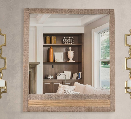 mirror entertainment center. beautifully natural wood construction meets modern practicality in the bolero mirror. finished sand brushed earth tones, rectangular mirror is entertainment center m