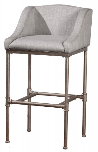 Dillon Non-Swivel Counter Stool - Silver