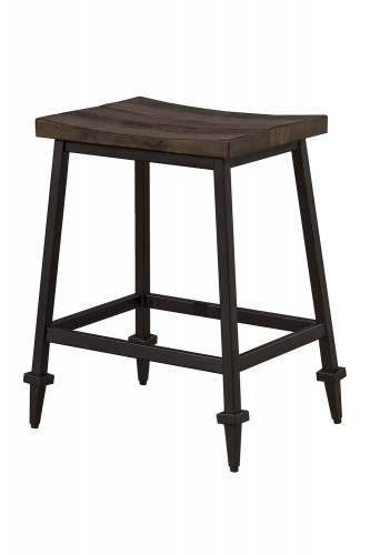 Trevino Non-Swivel Counter Height Stool - Walnut/Brown