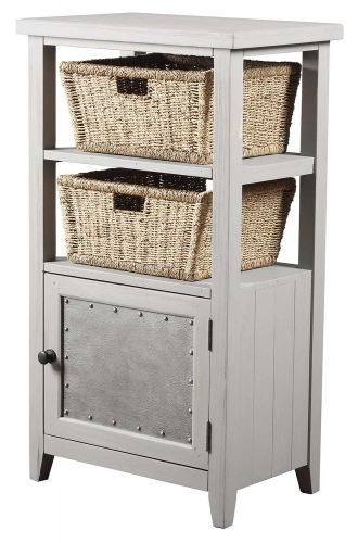 Tuscan Retreat Basket Stand with 2-Basket - Taupe