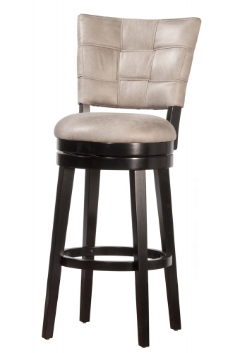 Kaede Swivel Bar Stool - Black