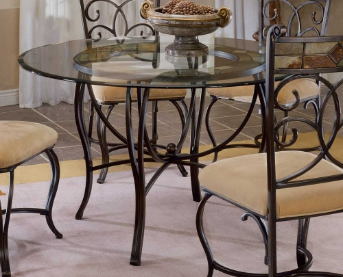 Pompei Metal Dining Table with Slate Top