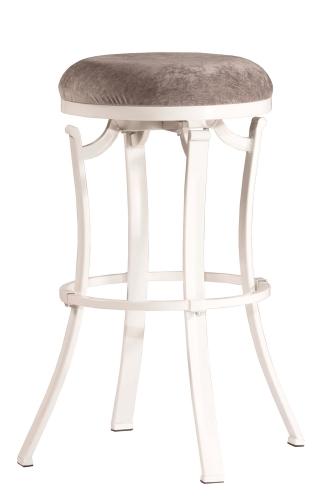 Kelford Swivel Backless Counter Stool - White