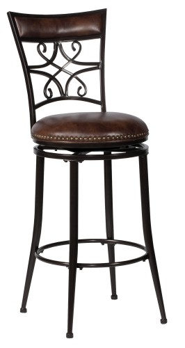 Seville Swivel Bar Stool - Brown Shimmer