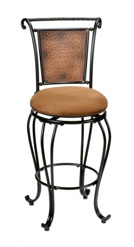 Milan Metal Swivel Counter Stool - Hammered Copper