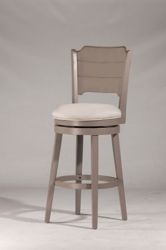 Clarion Swivel Bar Stool - Gray - Fog Fabric