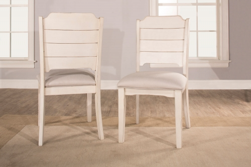 Clarion Dining Chair - Sea White - Fog Fabric