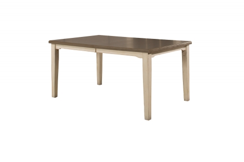 Clarion Rectangle Dining Table - Gray/White
