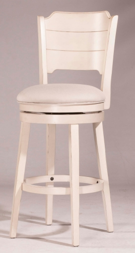 Clarion Swivel Bar Stool - Sea White - Fog Fabric