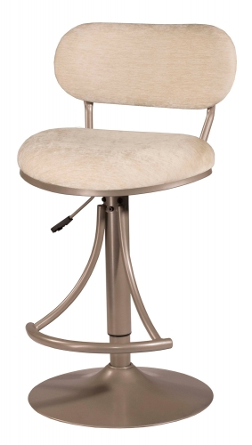 Athena Swivel Counter/Bar Stool - Champagne - Bone Fabric
