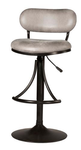 Athena Swivel Counter/Bar Stool - Black - Gray Fabric