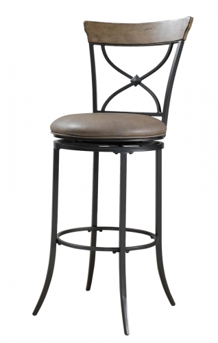 Charleston X-Back Swivel Counter Stool