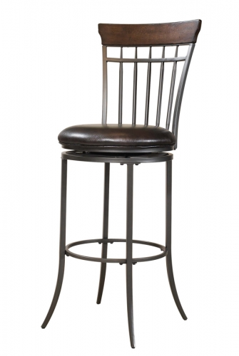 Cameron Vertical Spindle Back Swivel Counter Stool