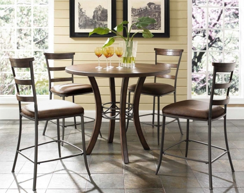 Cameron Counter Height Round Dining Set With Ladder Back Stool