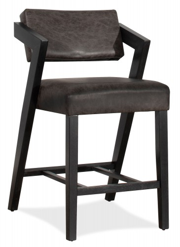 Snyder Stationary Counter Height Stool - Blackwash