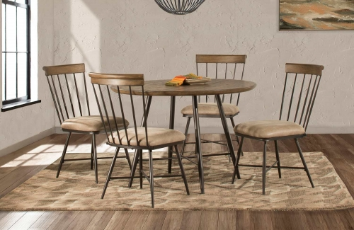 Forest Hill 5-Piece Round Dining Set - Brown