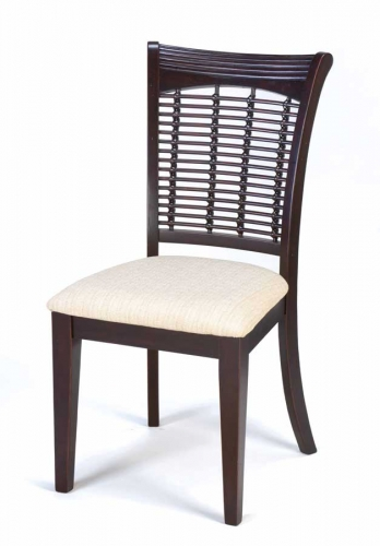 Bayberry Wicker Chair - Dark Cherry
