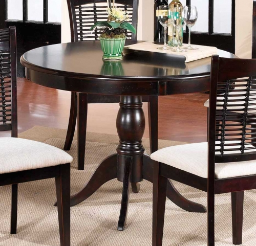 Glenmary - Bayberry Round Pedestal Table - Dark Cherry