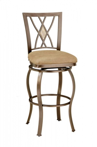 Brookside Diamond Fossil Back Metal Swivel Bar Stool
