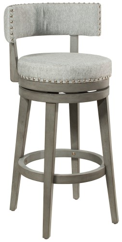 Lawton Swivel Counter Stool - Antique Gray