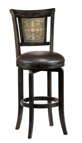 Camille Swivel Wood Bar Stool