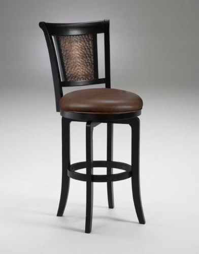 Cecily Swivel Wood Counter Stool